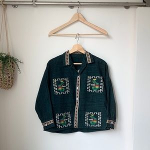 Vintage | Embroidered Button-Down Shirt